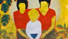 Sépànd DANESH, En 1988 avec maman et Mahbobeh, 25x35cm, 2013