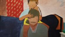 Sépànd DANESH, En 1990 à Strasbourg avec Mamad, 25x35cm, 2013