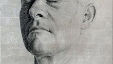 DAVID Pierre, 1 Portrait, pierre feuille argent/bakélite, 130x90cm, 2010