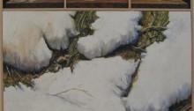 P. LELOUP, Neige 1, huile/toile, 83x84cm, 2003