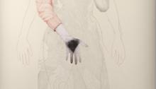 BESSON Mylène, broderie graphite crayon de couleur, 220x114cm, 2010