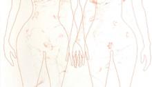BESSON Mylène, broderie graphite crayon de couleur Vélin d'Arches, 220x114cm, 2008