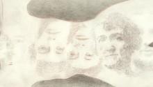 BESSON Mylène, Tombeau du temps rouge, Vélin d'Arches détail, 2013