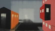 Hervé BURRET, Zone urbaine périphérique, huile, 36x48cm, 2012
