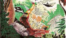 CARBONNE Antoine, Scooter, dessin/papier, 30x20cm. 2012