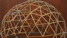 Sépànd DANESH, Dôme géodésique, 130x130cm, 2010