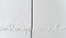 Saïb KAMEL, Hommage à Antonin Artaud, toile 30x61cm