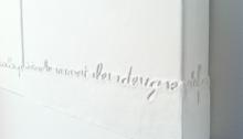 Saïb KAMEL, Hommage à Antonin Artaud, toile 30x61cm détail