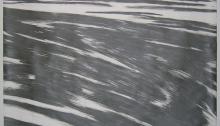 ROECKEL Éva, graphite dilué sur Vélin d'Arches, 105x142cm, 2005