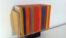 WÜTHRICH Peter (CH) Tiegel livres de poche et bois, 20x24x13cm, 2009