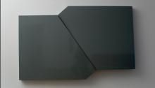 G. COQUET, Échelle 1 double toit de cabine téléphonique contreplaqué laqué chaque module 131x110x19,5cm, 2007