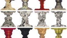 I. PARK, Human Pattern, 2013, Technique mixte sur gesso classique, 22x22cm l'unité