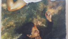 MARGHERITI Clémentine, huile sur ardoise, 25,5x36cm. 2013