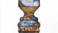 PARK Ido, Human Pattern 2, 22x22cm, dessin peinture huile/gesso, 2013