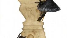 PARK Ido, Human Pattern 8, 22x22cm, dessin peinture huile/gesso, 2013