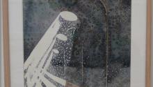 Hervé BURRET, Neige n°13, aquarelle encadrée, 40x29,5cm, 2010