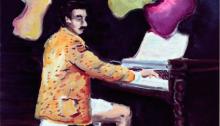 Charles HASCOËT, Paul Gauguin, peinture 40x30cm, 2014