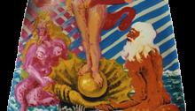 Hervé BURRET, Fortuna, 183x145cm, huile sur tôle capot d'ID 19, 1997