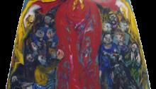 Hervé BURRET, La Vierge protectrice, 183x145cm, huile sur capot d'ID 19, 2000