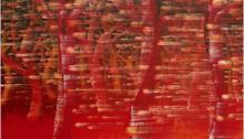 BURRET Hervé, Neige rouge 2, huile/toile, 130x162cm, 2012