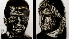 A. SUBERVILLE, portrait 136x93 et 128x93cm, 2006