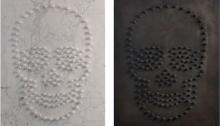 F. MARS, Mon enfance, 70x50cm, Pièce unique Bronze patiné, 70x50cm, Pièce unique