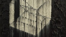 H. BURRET, Urbanscope, Le cinéma, huile sur toile, 20x20cm, 2013