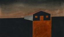BURRET Hervé, ZUP de nuit 21, crayons Conté, 21x28,5cm, 2013