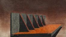 H. BURRET, ZUP de nuit 6, crayons Conté, 21x28,5cm, 2013