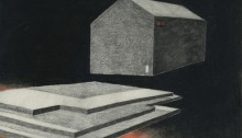 H. BURRET, ZUP de nuit 3, crayons Conté, 21x28,5cm, 2013
