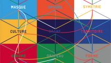 Benoît DELAUNAY (CH) Les grands voyageurs, 9 éléments de 80x60cm, acrylique sur MDF, 2015