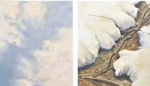 LELOUP Pierre, Diptyque 2x 100x100cm, huile sur toile, 2003