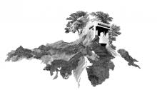 TROTIGNON Claire, Double séjour en hauteur,  63x91,5cm, n°4/8, 2012