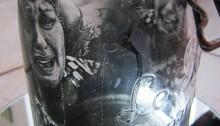 A. DOURENN, Femme qui crie au sirop 3 tir, unique argentique, 2016