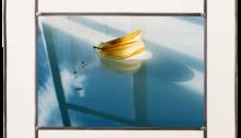 GENIN Cendrine, Nunc Stans n°4, Photo sur verre 24x36cm. 1/1 montée en vitrail 38,5x50cm. 2017