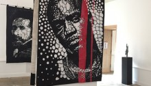 Koffi MENS, Lumière, Alioune BADARA THIAM (AKON),  250x150cm 2017