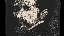 Koffi MENS, Le Prophète, Halïé SÉLASSIÉ, 200x150cm, 2017