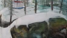 BERNINI R Construction Huile sur toile, 2007, 195 x 130 cm