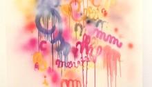 COSTE AL Merveille merveille, airbrush sur papier, 130 x 95 cm encadré 2005