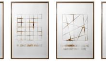 Benoît DELAUNAY (CH) Une limite, un espace, 2013 Chlorure de zinc sur papier aquarelle brûlé 4 x 64x4cm 1/1