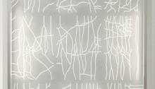 Benoît DELAUNAY (CH) Hey-Piet 2010 gravure sur verre 6mm. et leds 2013