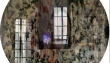 de SOUSA Aurore, ELLMSP n°5, Les Charmettes, verre feuilleté, ø39cm Tir.1/3 2013