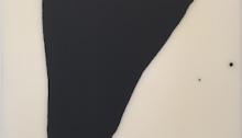 Lee BAE ss titre 73 x 60 cm noir de charbon sur toile, 2004