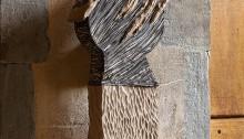 Esturillo Cédric Touchstone, 107x35cm, socle MDF, sculpture Terre cuite oxydé 2017