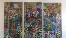 """BOKUM Barkinado  """"PAT"""" 3x297x150cm. peinture 2013"""