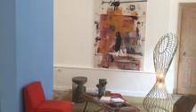 """Habiter l'art : Mobilier en vente +Vasco MANHICA """"Chaos"""" 169x119cm. acrylique 2018"""