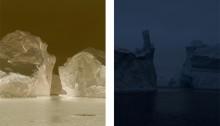 Portes I & II.150x120cm chaque Tirages 3 ex. fine art mat Hahnemülhe Photo Rag ultrasmooth 305gr. 100% coton blanc Contrecollé/alu Encadrement bois + Verre musée