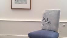 Chaise Aiguille d'Arves, chaise tapissier, pièce unique, 2018
