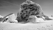 Les Creuxnoirs #Neige, 64,5x94cm. Digigraphie n°1/12 Caisse américaine chêne 2018
