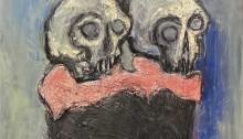 BOULZE Th. Roméo et Juliette peinture acryl 195 x 95cm